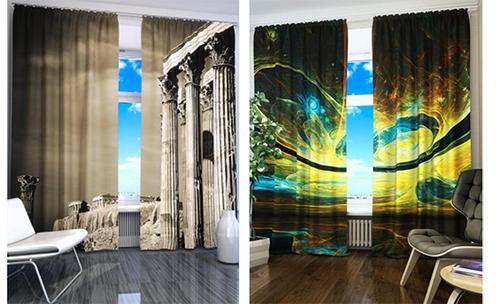 шторы с 3д рисунком фото